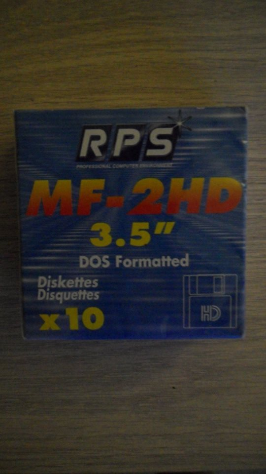 disquette MF-2HD 3.5 dos formated x10 0460